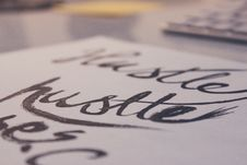 Free Calligraphy On Paper  Stock Photos - 83022823