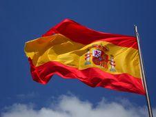 Free Spain Flag In Pole Stock Images - 83022994