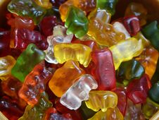 Free Yellow Red Green Gummy Bear Candy Royalty Free Stock Photography - 83023157
