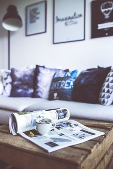 Free Reading With Cup Of Coffee Stock Images - 83023224