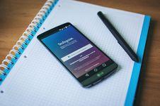 Free Instagram App On Smartphone Stock Photography - 83023362