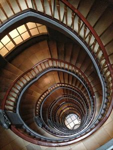 Free Brown Spiral Stairs Royalty Free Stock Images - 83023519