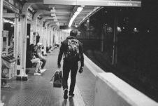 Free Man On Subway Platform Stock Image - 83023661