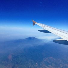 Free Wing Of Plane Over Mountains Royalty Free Stock Photography - 83023717