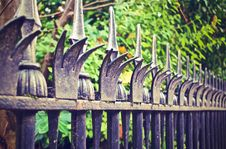 Free Metal Fence Spikes Stock Photos - 83024023