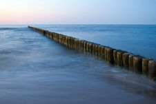 Free Marina Posts In Baltic Sea Stock Photography - 83024262