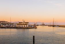 Free Boats In Marina At Sunset Stock Images - 83024444