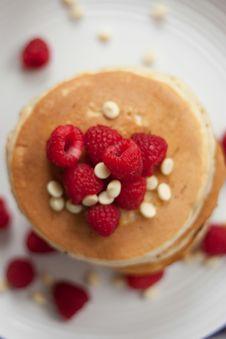 Free Pancakes And Raspberries Royalty Free Stock Photos - 83024988
