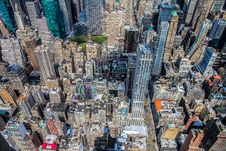 Free Aerial View Of City Skyscrapers Stock Images - 83025684