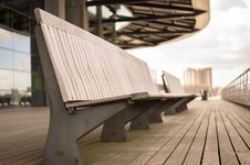 Free Empty Benches On Walkway Royalty Free Stock Photos - 83026058