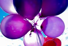 Free Purple And Red Balloons Royalty Free Stock Photography - 83035367