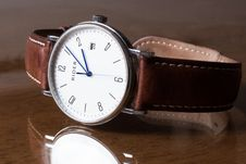 Free Wristwatch On Tabletop Royalty Free Stock Photos - 83035548