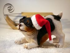 Free Statue Of Puppy In Stocking Cap Stock Photos - 83035563