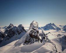 Free Snowy Mountain Caps Royalty Free Stock Photo - 83035675