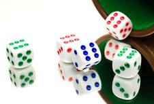 Free Colorful Dice Royalty Free Stock Image - 83035716