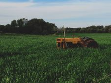Free Abandoned Tractor In Field Royalty Free Stock Images - 83035829