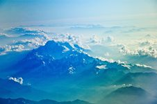 Free Aerial View Of Clouds Over Mountains Royalty Free Stock Images - 83035839