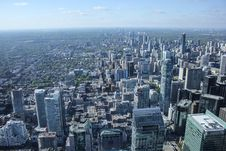 Free Aerial View Over Skyline Of Toronto, Canada Royalty Free Stock Photo - 83035875
