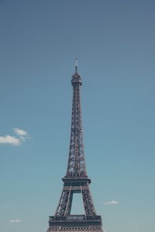 Free Eiffel Tower, Paris, France With Blue Skies  Stock Photography - 83035932