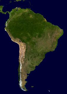 Free Map Of South America Stock Image - 83036041