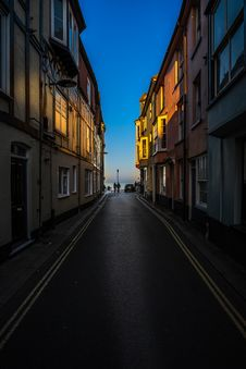 Free Narrow Street In Old Town Royalty Free Stock Image - 83036086