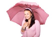 Free Woman Under Umbrella Royalty Free Stock Images - 83036099