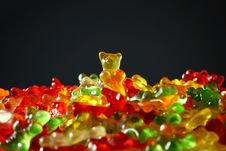 Free Multicolored Gummy Bears Royalty Free Stock Image - 83036296