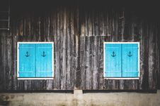 Free Blue Shutters Stock Photo - 83036540
