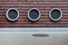 Free Vents On Brick Wall Stock Photos - 83036793
