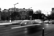 Free Vehicles On Road In Grayscale Photography Stock Image - 83036881