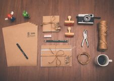 Free Different Tools On Table Royalty Free Stock Images - 83036899