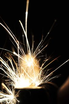 Free Sparks Flying In Dark Area Stock Photo - 83036950
