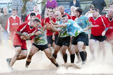Free Rugby Players Royalty Free Stock Photography - 83037167