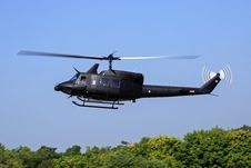 Free Black Helicopter Flying Above Green Trees Royalty Free Stock Photography - 83037447