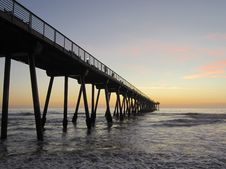 Free Pier In Water At Sunrise Stock Photos - 83037643