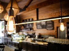 Free Electric Light In Cafe Royalty Free Stock Photo - 83037795