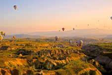 Free Balloons Over Landscape, Cappadocia, Turkey Stock Photography - 83037822