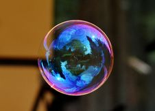 Free Image Of A Floating Bubble Royalty Free Stock Photos - 83038038