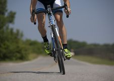 Free Person Riding Road Bike On The Road Royalty Free Stock Photos - 83038158
