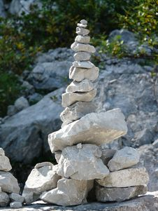 Free Grey Stack Stones Royalty Free Stock Photos - 83038198