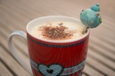 Free Cup Of Coffee With Decorative Spoon Stock Images - 83038284