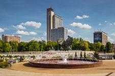 Free Fountain In Katowice, Poland Stock Image - 83038531