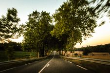 Free Empty Country Road Royalty Free Stock Photography - 83038617
