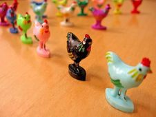 Free Chicken Figurines Royalty Free Stock Image - 83039156