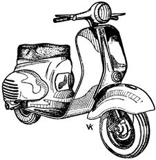 Free Scooter-003 Royalty Free Stock Photography - 83040307