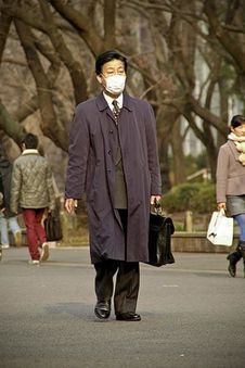 Free Asian Businessman With Face Mask Royalty Free Stock Images - 83041129
