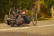 Free Handcycle On Roadway Stock Images - 83054344