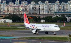 Free Trans Asia Jet On Runway Stock Images - 83054744