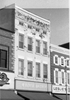 Free Downtown Belleville Stores Circa 1970 Stock Photos - 83054853