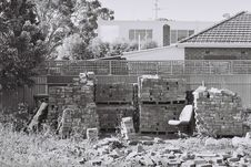 Free Bricks In Backyard Royalty Free Stock Photo - 83054925
